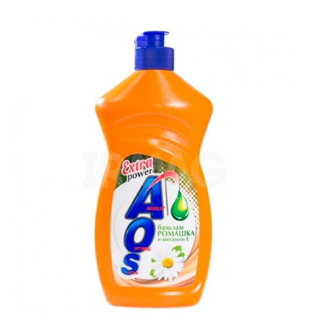 фото: Средство для мытья посуды Aos 450мл, ромашка/ витамин Е, бальзам