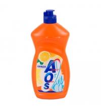 Средство для мытья посуды Aos 500мл, лимон, бальзам