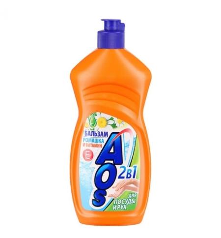 фото: Средство для мытья посуды Aos 500мл, ромашка/ витамин Е, бальзам