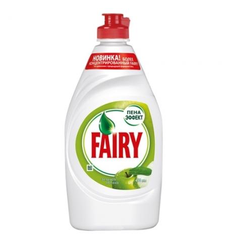 фото: Средство для мытья посуды Fairy 450мл, зеленое яблоко, гель