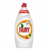 Средство для мытья посуды Fairy 900мл, апельсин/ лимонник, гель, пена-эффект