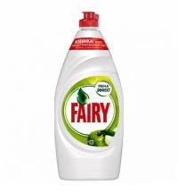 Средство для мытья посуды Fairy 900мл, зеленое яблоко, гель, пена-эффект