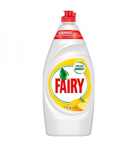 фото: Средство для мытья посуды Fairy 900мл, лимон, гель, пена-эффект