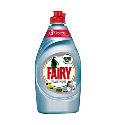 фото: Средство для мытья посуды Fairy Platinum 430мл, лимон/ лайм, гель