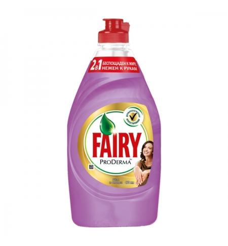 фото: Средство для мытья посуды Fairy ProDerma 450мл, шелк/ орхидея, гель