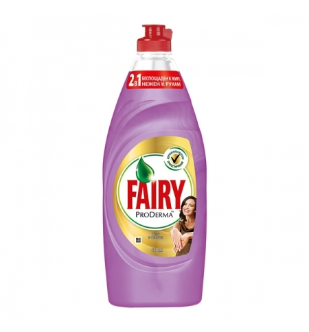 фото: Средство для мытья посуды Fairy ProDerma 650мл, шелк/ орхидея, гель