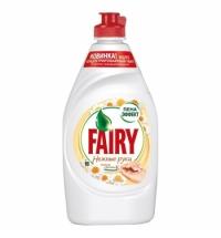 Средство для мытья посуды Fairy Нежные руки 450мл, ромашка/ витамин Е, гель