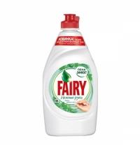 Средство для мытья посуды Fairy Нежные руки 450мл, чайное дерево/ мята, гель, пена-эффект