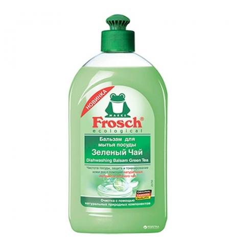 фото: Средство для мытья посуды Frosch 500мл, зеленый чай, бальзам