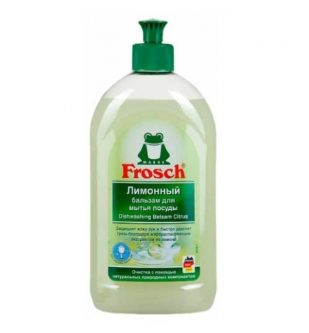 фото: Средство для мытья посуды Frosch 500мл, лимон, гель