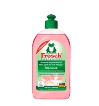 Средство для мытья посуды Frosch 500мл, малина, гель