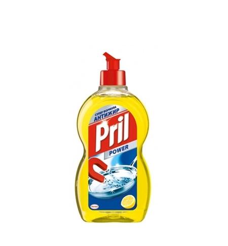 фото: Средство для мытья посуды Pril Дуо Актив 450мл, лимон, гель