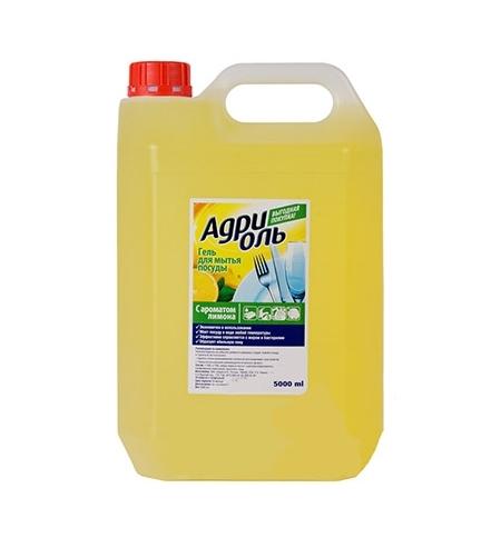 фото: Средство для мытья посуды Адриоль 5л, лимон, гель