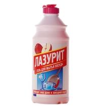 Средство для мытья посуды Аист Лазурит 500мл, яблоко, гель