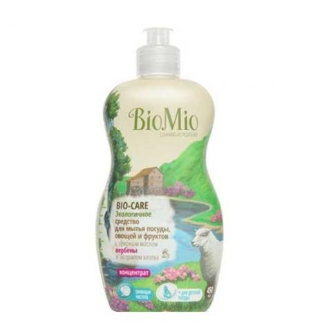 фото: Средство для посуды и детских принадлежностей Bio Mio Эко 450мл, эфирное масло вербены/ экстракт хло