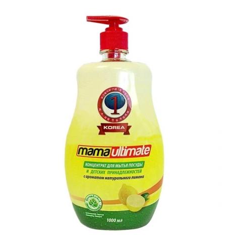 фото: Средство для посуды и детских принадлежностей Mаmа Ultimate 1л, лимон, гель