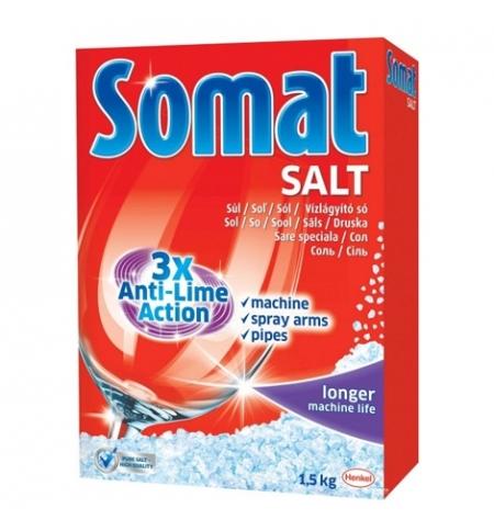 фото: Защитное средство для посудомоечной машины Somat 1.5кг, соль