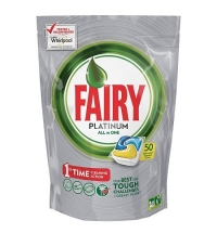 Капсулы для ПММ Fairy All in 1 Platinum, 50шт, лимон