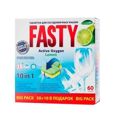 фото: Таблетки для ПММ Active Oxygen 10 in 1 60шт, лимон