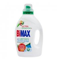 Гель для стирки Bimax Ultra 1.3л, для цветного и белого, концентрат