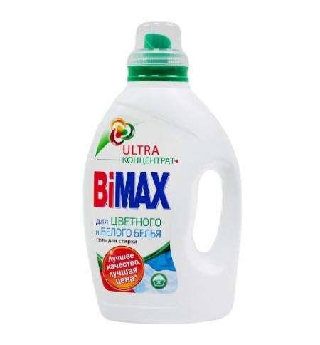 фото: Гель для стирки Bimax Ultra 1.3л, для цветного и белого, концентрат