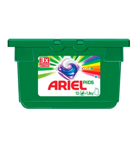 фото: Капсулы для стирки Ariel Color 12шт х 28.8г, автомат