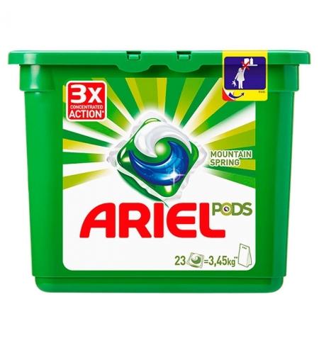 фото: Капсулы для стирки Ariel Pods 23шт х 28.8г, горный родник, автомат