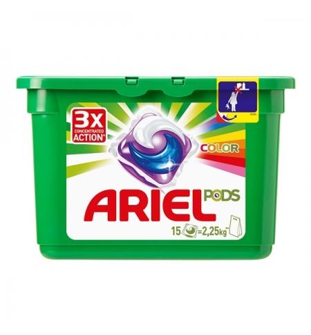 фото: Капсулы для стирки Ariel Pods Color 15шт х 28.8г, автомат