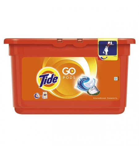 фото: Капсулы для стирки Tide 30шт х 25.2г, альпийская свежесть, автомат