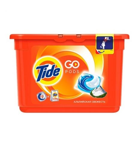 фото: Капсулы для стирки Tide Pods 15шт, альпийская свежесть, автомат