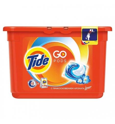 фото: Капсулы для стирки Tide Pods 15шт, с ароматом Lenor, автомат