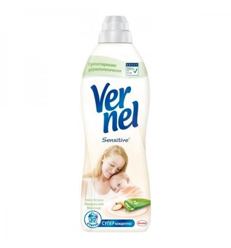 фото: Кондиционер для белья Vernel 910мл, алоэ вера и миндальное молочко, суперконцентрат