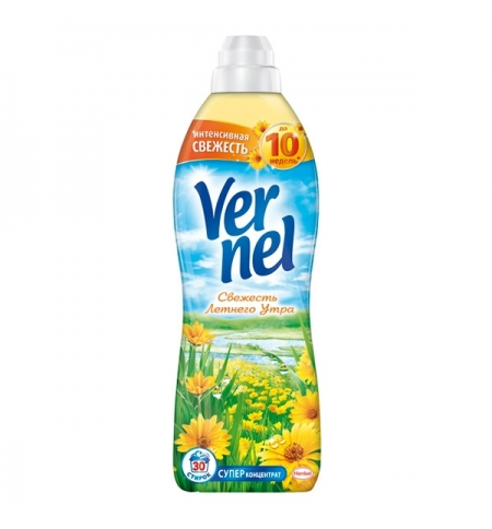 фото: Кондиционер для белья Vernel 910мл, свежесть летнего утра, суперконцентрат
