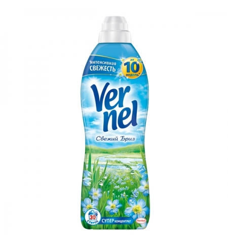фото: Кондиционер для белья Vernel 910мл, свежий бриз, суперконцентрат