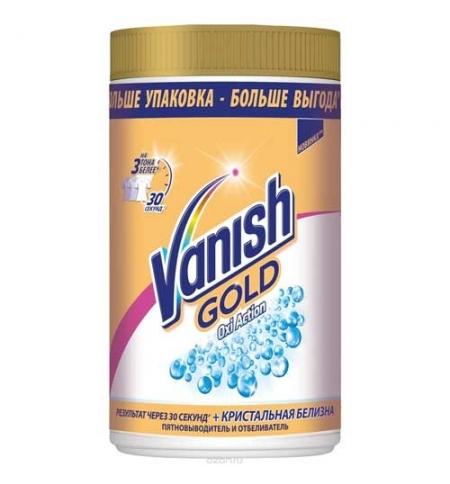 фото: Пятновыводитель Vanish Gold Oxi Action 1кг, кристальная белизна, порошок