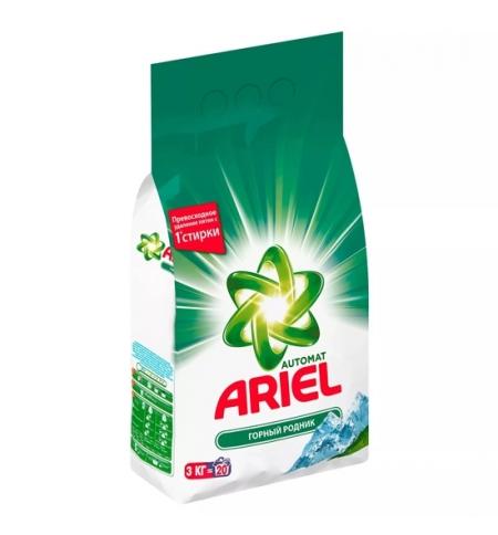 фото: Стиральный порошок Ariel 3кг, горный родник, автомат