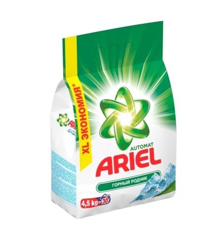 фото: Стиральный порошок Ariel 4.5кг, горный родник, автомат