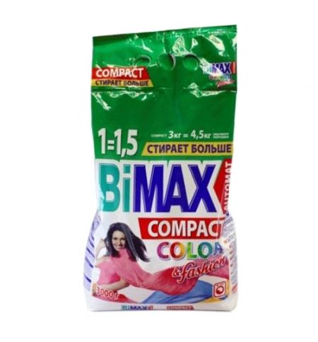 фото: Стиральный порошок Bimax Compact 3кг, Color&Fashion, автомат