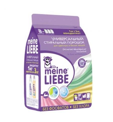 фото: Стиральный порошок Meine Liebe универсальный 1кг, для цветных и белых вещей, концентрат