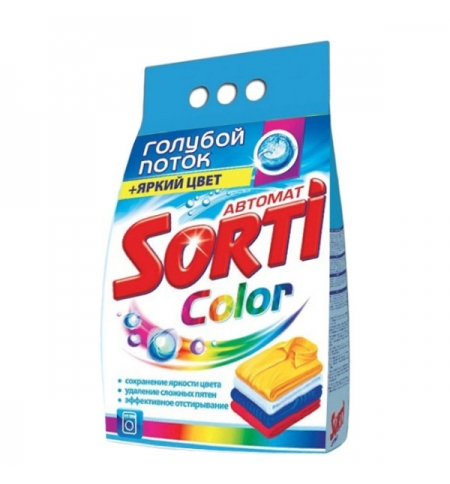 фото: Стиральный порошок Sorti Color 3кг, яркий цвет, автомат