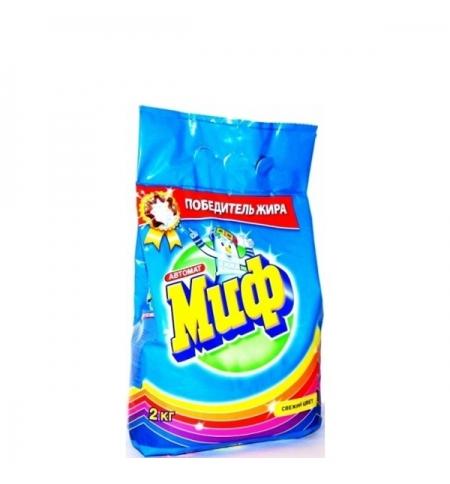 фото: Стиральный порошок Миф 2кг, свежий цвет, автомат