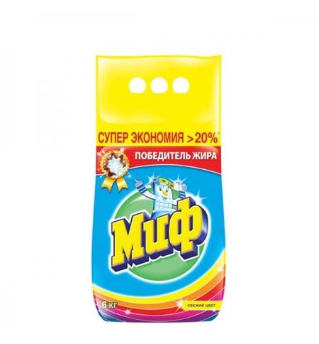 фото: Стиральный порошок Миф 6кг, свежий цвет, автомат