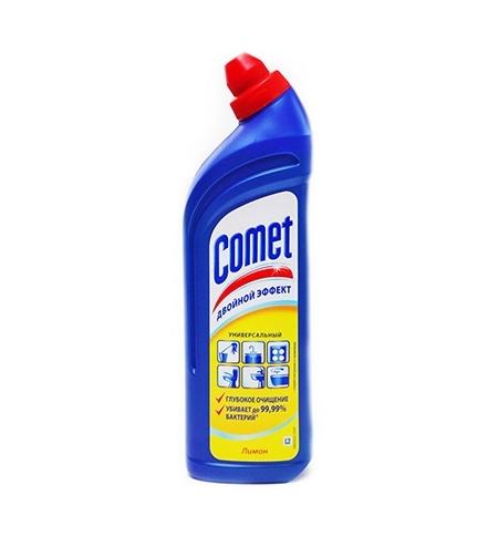 фото: Универсальное чистящее средство Comet Двойной эффект 1л, лимон, гель