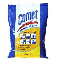 Универсальное чистящее средство Comet Двойной Эффект 400г, лимон, порошок, в пакете