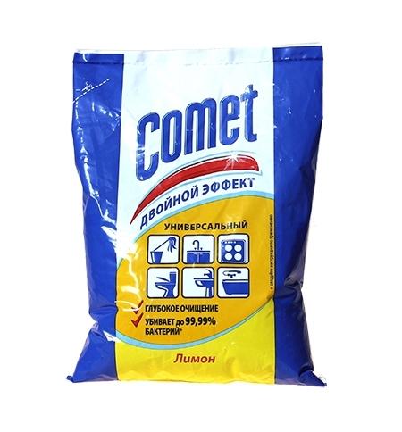 фото: Универсальное чистящее средство Comet Двойной Эффект 400г, лимон, порошок, в пакете