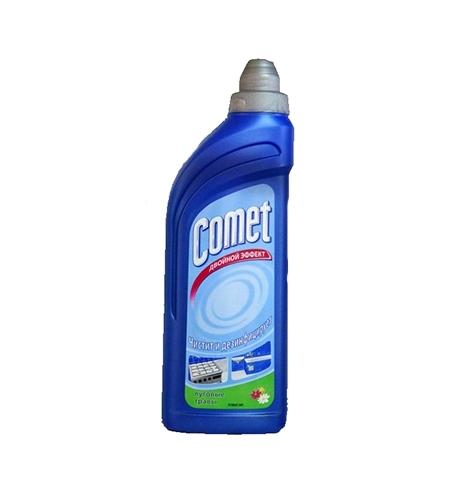 фото: Универсальное чистящее средство Comet Двойной эффект 500мл, луговые травы, гель
