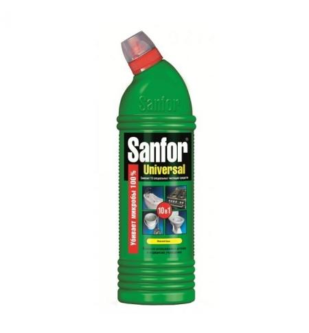 фото: Универсальное чистящее средство Sanfor 10в1 750мл, universal, гель
