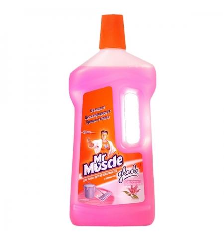 фото: Средство для мытья пола Мистер Мускул 750мл, цветочное совершенство, жидкость