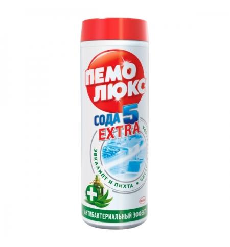 фото: Универсальное чистящее средство Пемолюкс Сода 5 extra 480г, антибактериальный, порошок