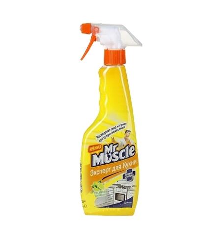 фото: Чистящее средство для кухни Мистер Мускул 450мл, лимон, спрей